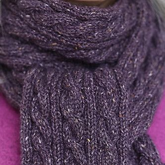 Basic Cabled Scarf Pattern - FREE   Knit-O-Matic Hats, Scarves, and Totes t...