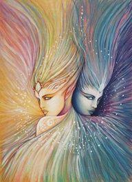Gemini art work, two spirits.