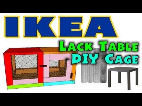 diy cage hamster ikea lack table cage designed by erinshamsters youtube habitats hamster. Black Bedroom Furniture Sets. Home Design Ideas