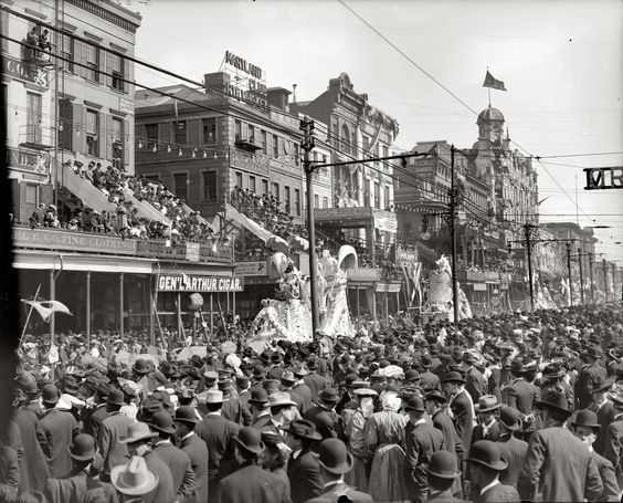 This is just awesome!! High-Resolution photo of the New Orleans Mardi Gras in 1900