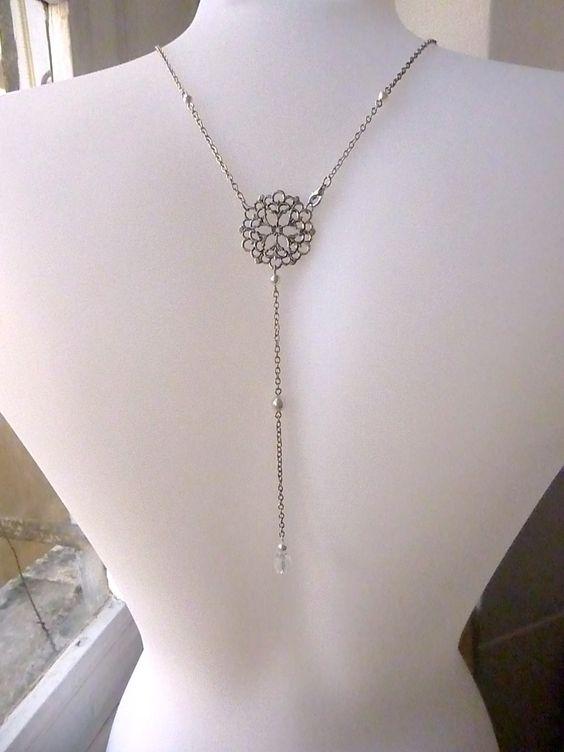 bijou de dos pour mariage style retro perles swarovsky With bijoux mariage vintage