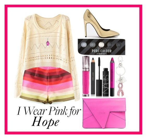 """""""Hope"""" by earl-for-lyfe ❤ liked on Polyvore featuring Urban Decay, NARS Cosmetics, Estée Lauder and IWearPinkFor"""