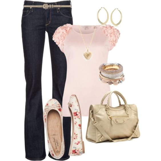 """Floral Flats"" by bayelle on Polyvore"