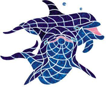"Ceramic Dolphin Sunshine Mosaic 23""x21"" sooo cute!!!!!"