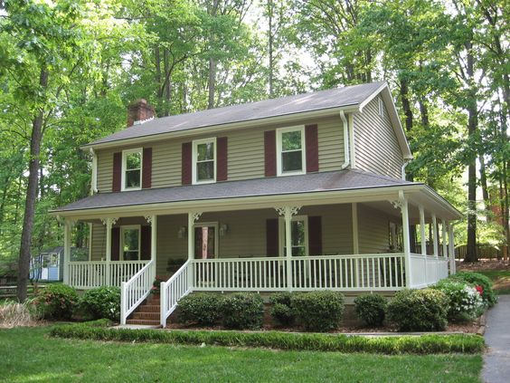 Pinterest the world s catalog of ideas for Two story houses with wrap around porches