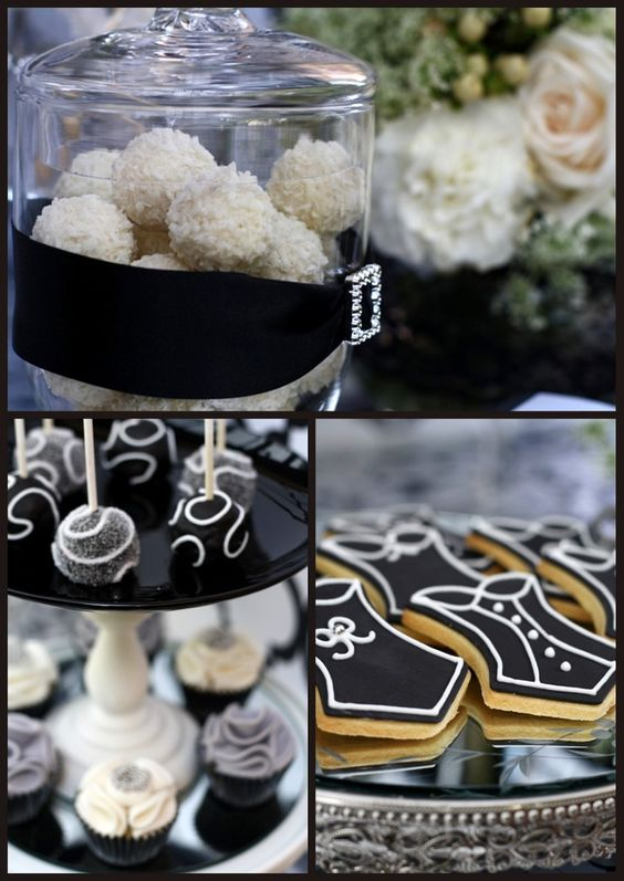 Black & white bling party