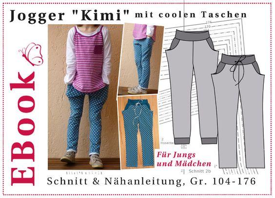 """EBook+Jogger+""""Kimi""""+(Unisex)+mit+coolen+Taschen+von+winfine+auf+DaWanda.com"""