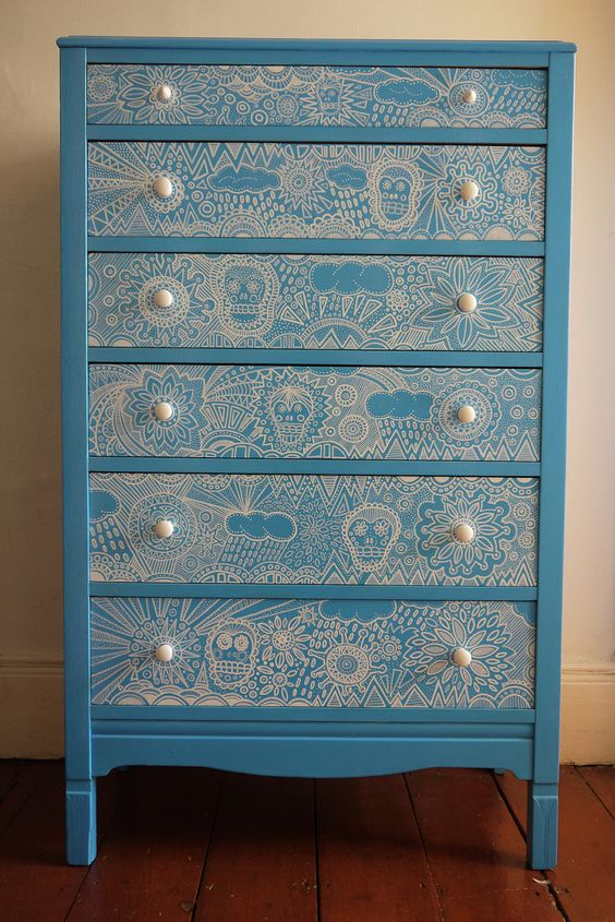 Bespoke Vintage Up Cycled Chest Of Drawers Home Sweet