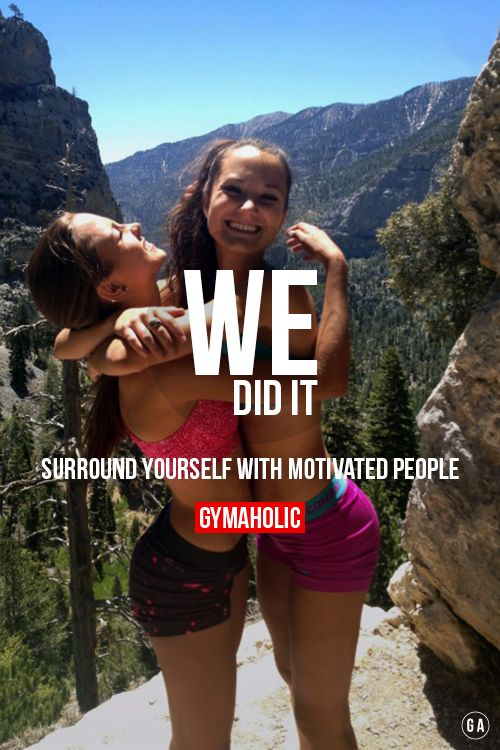Surround yourself with motivated people.  So many people give up before they're even half way!  http://www.gymaholic.co