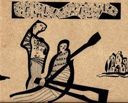 """""""A Ilha dos Mortos"""", Caneta sobre papel, 29,7 x 21 cm, 2014"""