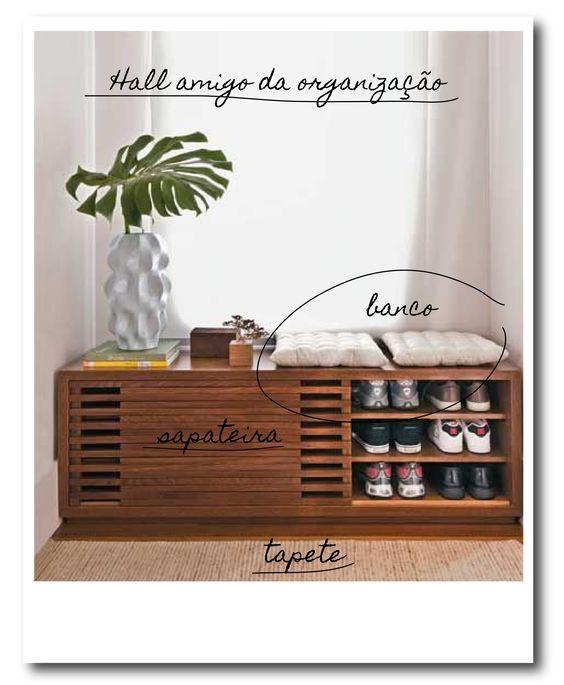 A entrada para começar- A organização do hall - Blog de decoração faça você mesmo - Casa de Firulas