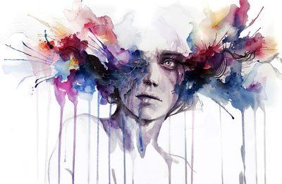 Agnes-Cecile - l'assenza Art Print