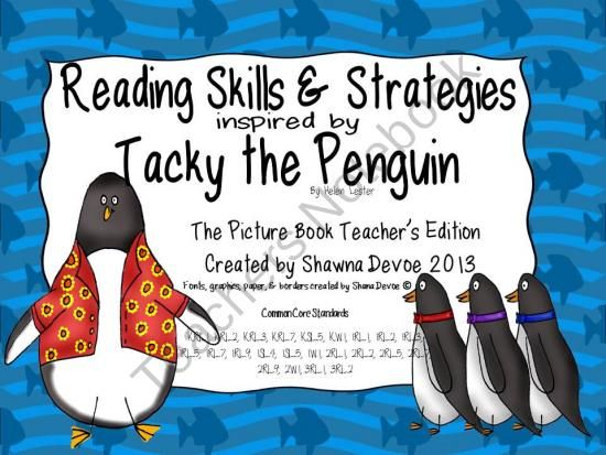 Tacky The Penguin Book Cover : Tacky the penguin reading skills and strategies product