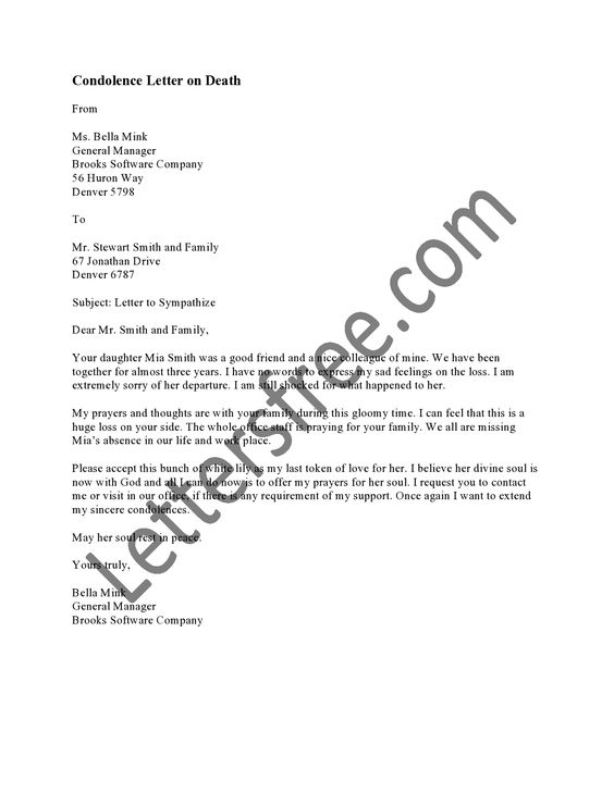 A sympathy or condolence letter can be a great source of comfort - condolence letter example