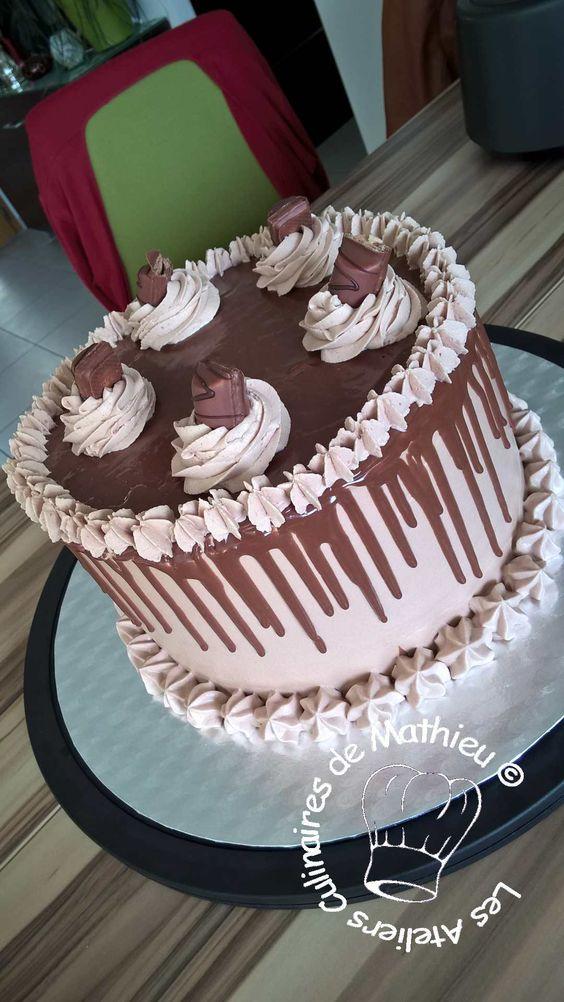 Layer cake kinder entremets cr mes mousses et montages pinterest g teaux g teaux - Gateau deco kinder ...
