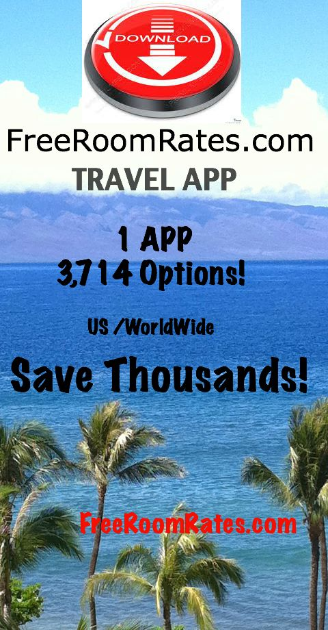 The best new travel app to go to amazing places is the Free Room Rates app. This 1 app can take you to 3,714 amazing places.  And the best part is you get to travel with FREE room rates!    www.freeroomrates.com