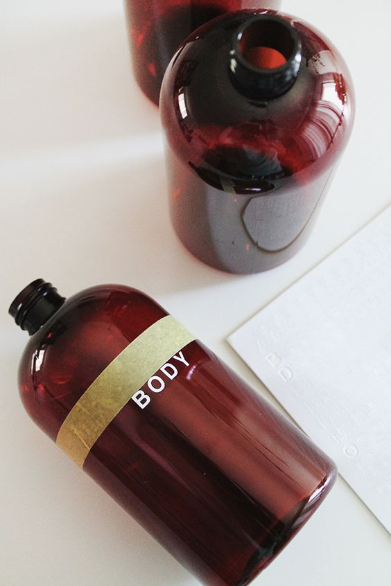 diy pretty shampoo bottles | almost makes perfect