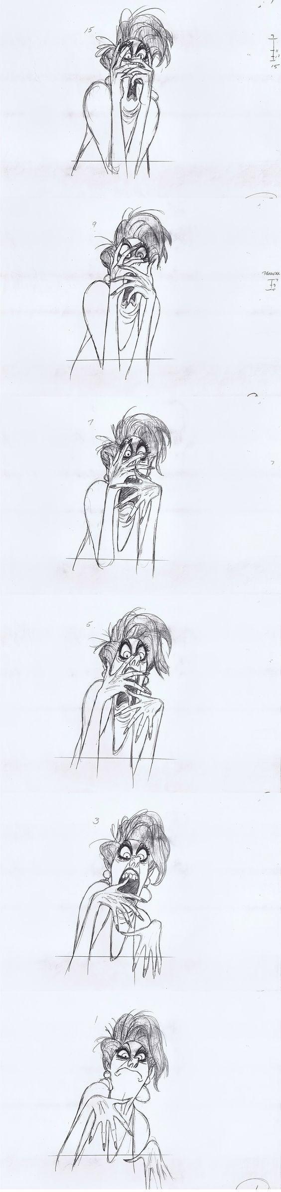 Milt Kahl - Medusa Rough Animation: