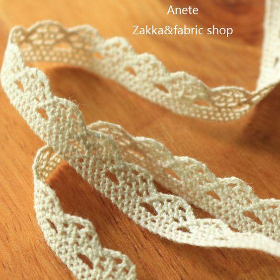 Vintage style 100% Cotton Ribbon Crochet Trim Lace Wedding Sewing Decor Handmade #Anete