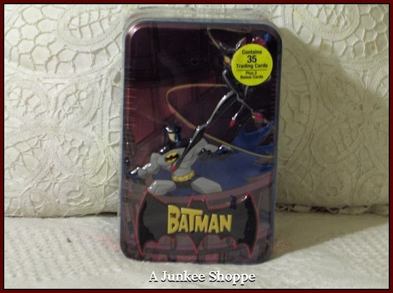 THE BATMAN Cartoon Network 2004-2008 Animated 35 Trading Card Set In Sealed Tin  Junk 712 http://ajunkeeshoppe.blogspot.com/