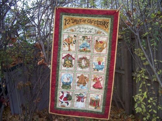 Holiday Fabric Wallhanging: