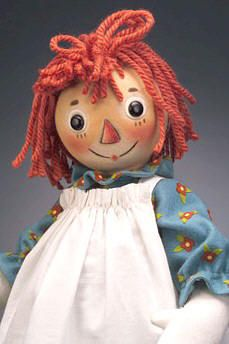 *RAGGEDY ANN - and people wonder why I don't sleep at night!  Never trust anything with a triangle nose!
