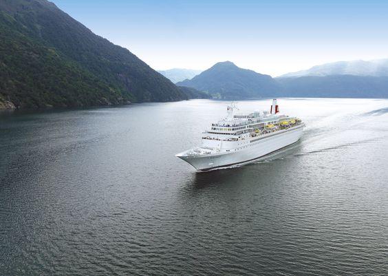 Black Watch cruise ship, cruising the Norwegian Fjords - Fred. Olsen Cruise Lines