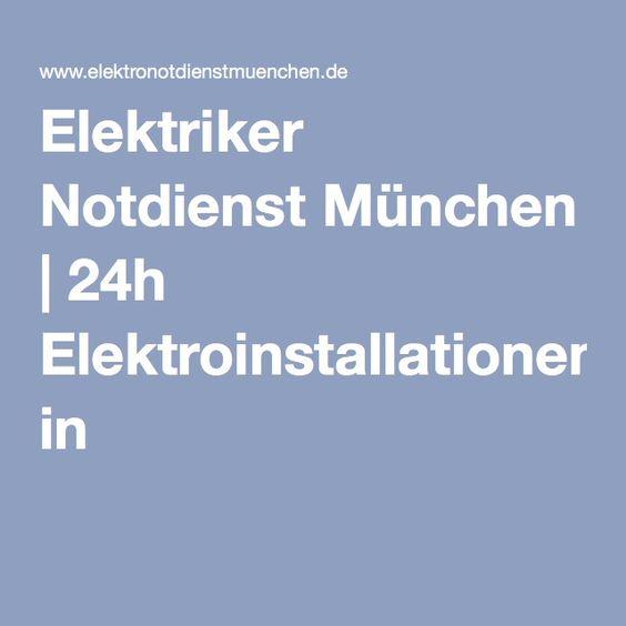 Elektriker Notdienst München | 24h Elektroinstallationen in