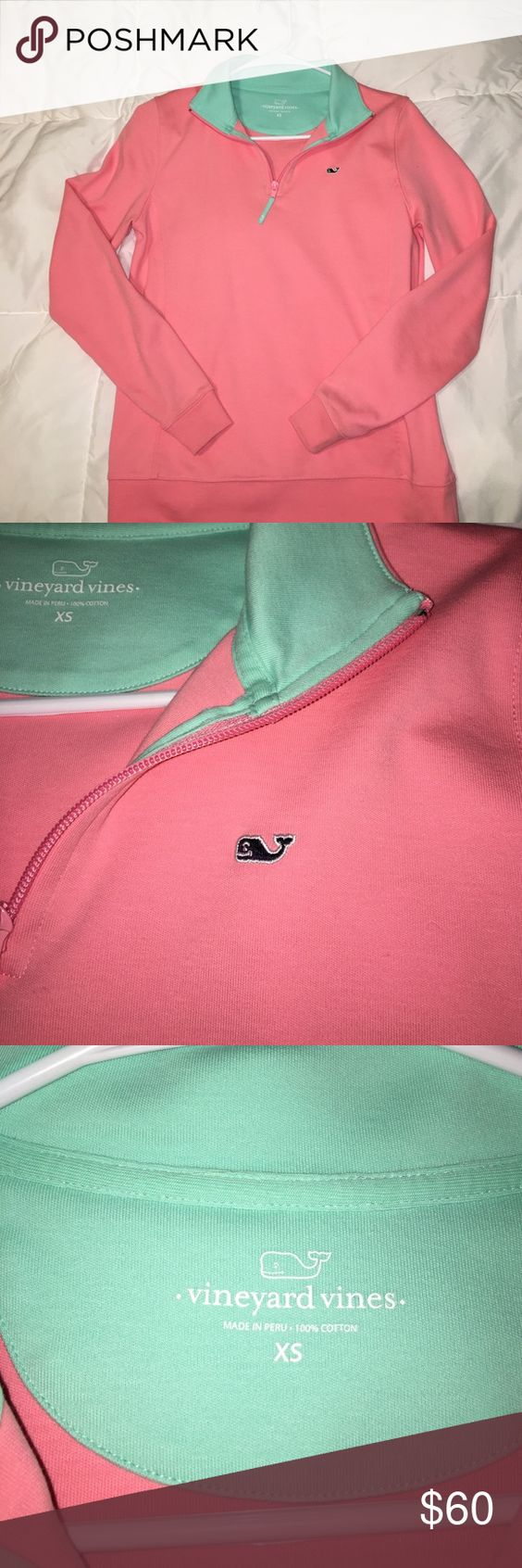 NEW Vineyard Vines Pullover! Never worn vineyard vines Pullover! 100% cotton, super soft and stretchy. Coral/pink in color Vineyard Vines Tops Sweatshirts & Hoodies