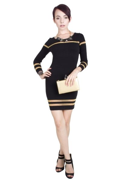 GLOSSY GOLD DRESS