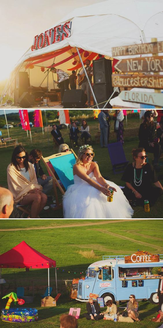 A Glastonbury Themed Bohemian Wedding In Worcestershire With Yurts Glamping Food Vans And A Bonfire And Bride In A Floral Crown With Images From Camera Hannah And Event Planning By Jessie Thomson 6