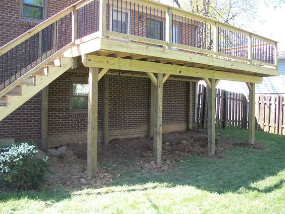 Decks Post And Beam And Posts On Pinterest