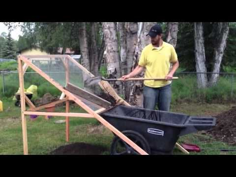 Rotating Compost Sifter Sieve Trommel Youtube Compost Compost