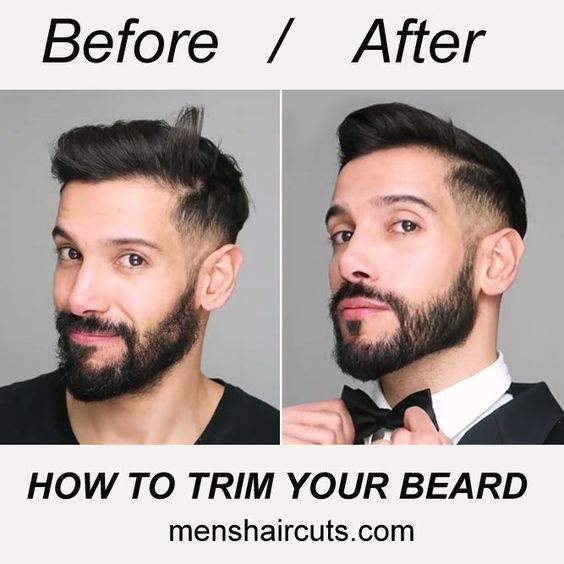 Before/After Beard Trimming You have been growing your facial hair for a while now and still didn't learn how to trim a beard up or down? Lucky for you, we have the most detailed instructions on the domestic beard trimming. You'll find out about the tools and styling and get tons of useful ploys. You have little choice but to learn and apply. #menshaircuts #menshairstyles