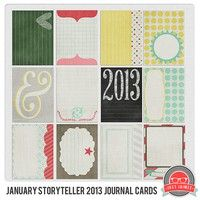 January Storyteller 2013 Journal Cards-I love the style of these cards