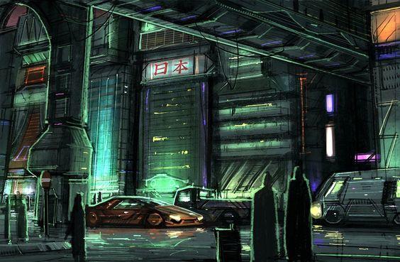 Cyberpunk, Futuristic city and Street on Pinterest