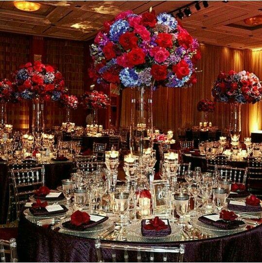 Deco de salle en noir et rouge centre de table for Deco table rouge et noir