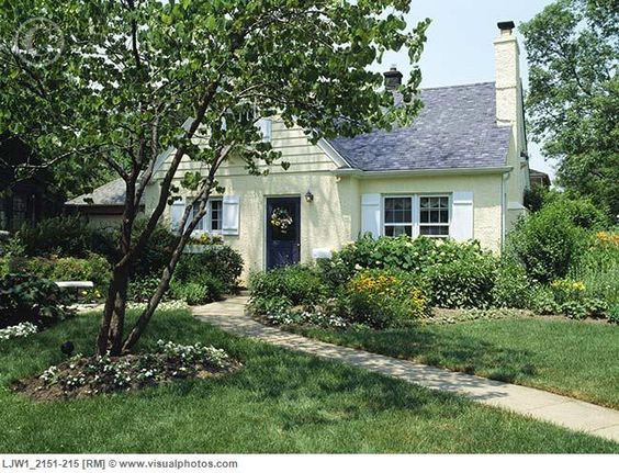 Flower borders Yellow and Cottages on Pinterest