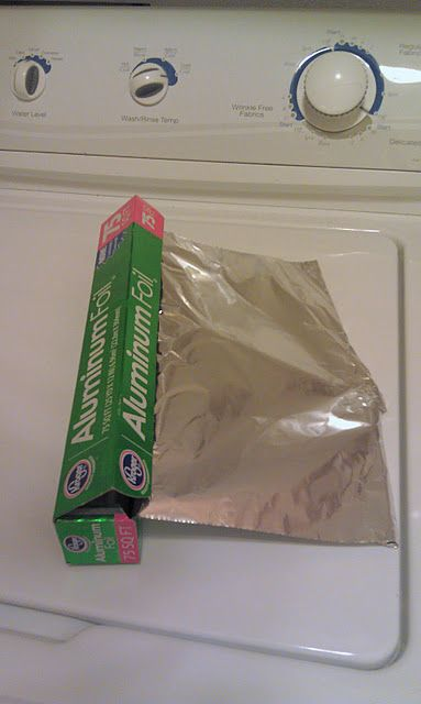 No More Static Cling! Crumple Up A Piece Of Aluminum Foil & Put It In The Dryer