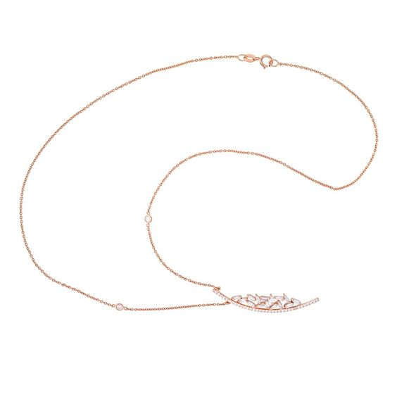 Vintage Diamond Baguette Choker Necklace In Rose Gold - Mettlle