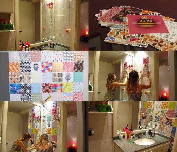 Renovação de azulejos (pro banheiro ou pra cozinha? Dúvida cruel) : http://ideiasdefimdesemana.com/azulejos-coloridos-do-it-yourself/