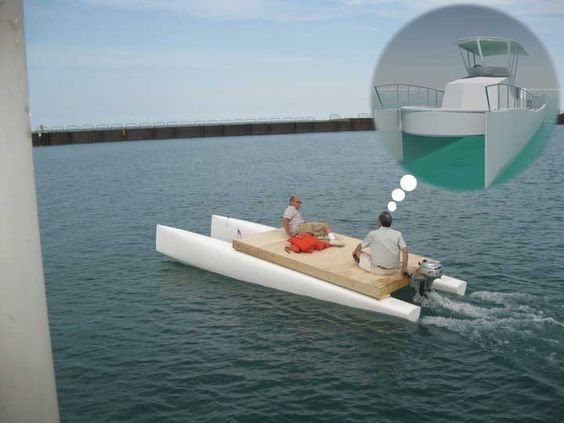 Catamaran converted into powerboat google search small for Catamaran fishing boat manufacturers