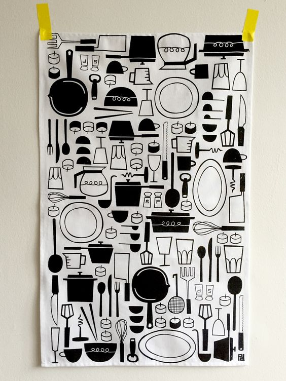 """Everything that goes on your table goes on this tea towel Generous 19x30"""" 100% cotton tea towel manufactured and printed in Canada, wash witho..."""