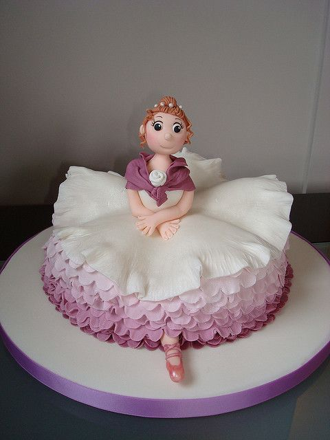 would be cute for a ballerina cake: