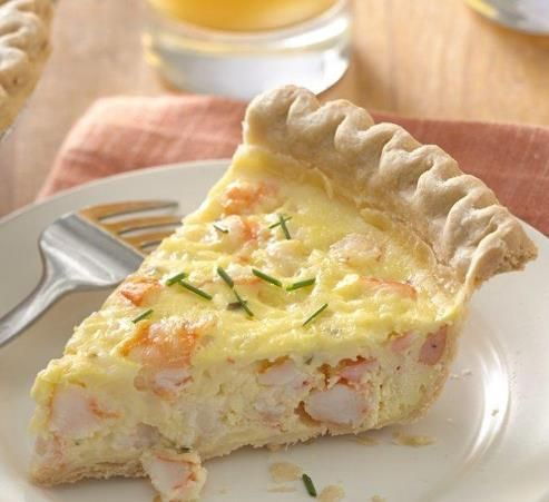 This tasty shrimp and cheese pie makes a perfect light supper, or cut it into smaller wedges for a hearty appetizer.