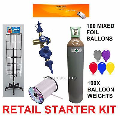 Balloon retail #starter kit, #stand, helium, foil #balloons, weight, gauge busine,  View more on the LINK: http://www.zeppy.io/product/gb/2/121783972000/