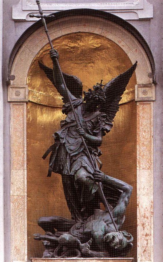 St Michael Slaying the Devil by Hubert Gerhard | Art More ...