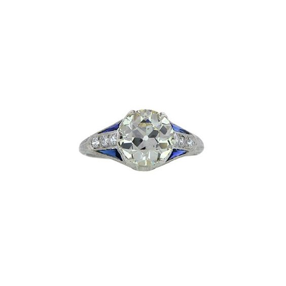 Art Deco 2.30-carat diamond engagement ring, price upon request For information: 1stdibs.com