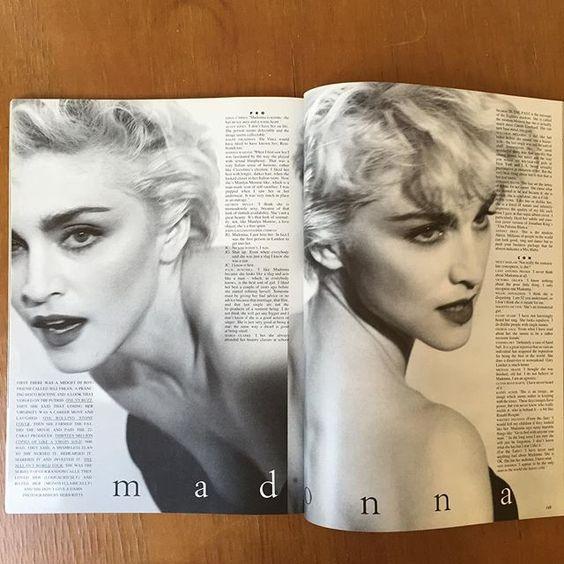 Instagram media by pjcalder - Madonna  Herb Ritts @tatleruk 1987 @maxpinnell @francescatolot