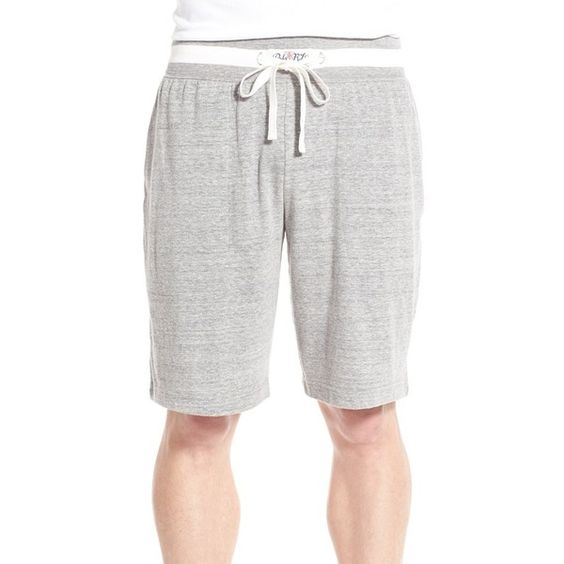 Polo Ralph Lauren Jersey Sleep Shorts ($38) ❤ liked on Polyvore featuring men's fashion, men's clothing, men's sleepwear, steel grey heather and polo ralph lauren mens clothing